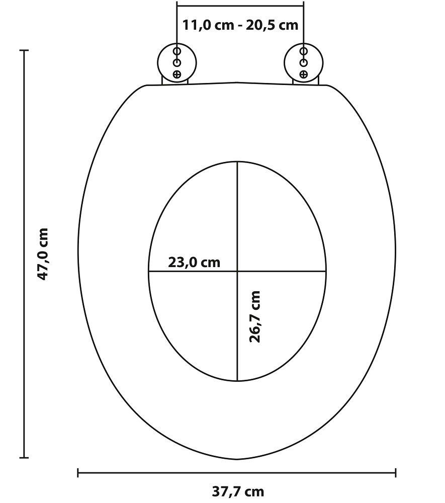 Abattant WC frein de chute soft close Canard Jaune Fixation facile Finition de haute qualit/é