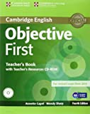Objective First Teacher's Book with Teacher's Resources, Annette Capel and Wendy Sharp, 1107628350
