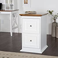 Belham Living Hampton 2-Drawer Wood File Cabinet - White/Oak
