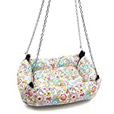 Alfie Pet by Petoga Couture - Ariel Hanging Bed for Small Animals like Dwarf Hamster and Mouse - Design: Flower, Size: Large