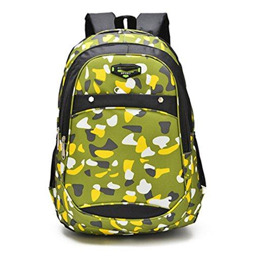 SHUB Waterproof Nylon Fabric Boys School Bags Backpack For Teenagers Pencil Case Blue Book Bag Boy One Shoulder Schoolbag green