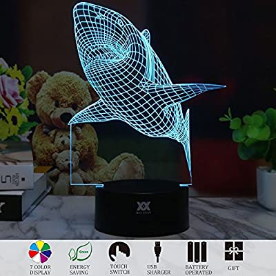 3D Anime LED Night Light Lamp 7 Color Change Best Children Friends Festival Gift Desk Table Lighting Home Decoration Toys Designed by HUI YUAN