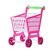 GreenSun TM 11.8'' Mini Shopping Cart Kitchen Toys with Full Grocery Food Toy Playset for Kids Toys Plastic Trolley Play Toy