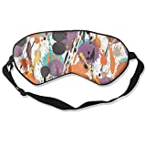 HSHISKH Men And Women Colorful Drops Seamless Tile Mask For Sleeping 3d, Hot Ice Cover Sleep Blackout Breathable Sleeping Goggles
