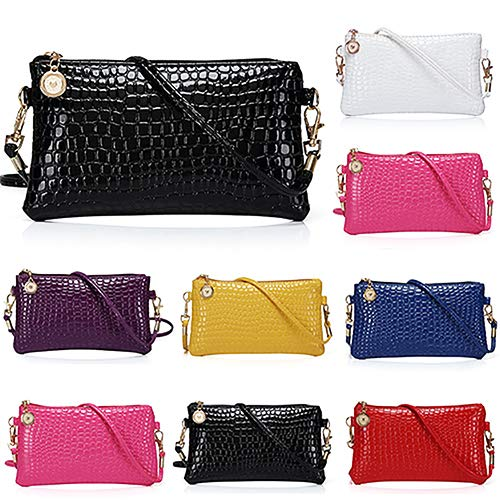 Women Faux Leather Zipper Clutch Mini Cross Body Shoulder Bag Phone Bag by Shengyuze (Image #4)