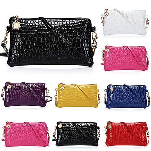 Women Faux Leather Zipper Clutch Mini Cross Body Shoulder Bag Phone Bag by Shengyuze (Image #5)