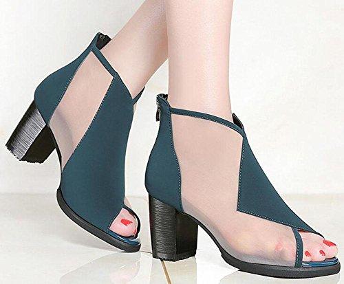 Roma sexy transpirable sandalias tac pescado red de cabeza de zapatos solo KUKI g4THw7nRwq