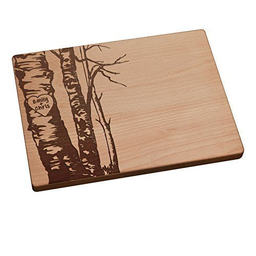 amazon com personalized cutting board birch trees handmade