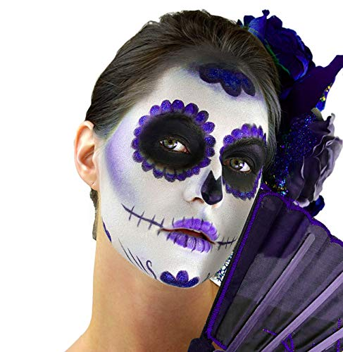 Woochie Day of The Dead Makeup Kit - Professional Quality Halloween Costume Makeup - Purple