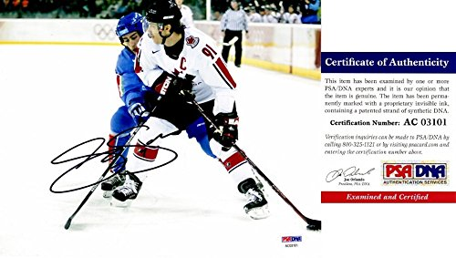 Joe Sakic Signed - Autographed TEAM CANADA 8x10 inch Photo - PSA/DNA Certificate of Authenticity (COA) - Colorado Avalanche 2x Stanley Cup Champion - 2012 Hall of Fame Inductee