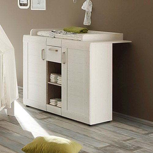 trendteam bzl60557 babyzimmer komplett set landhausstil weiss pinie struktur bettmix. Black Bedroom Furniture Sets. Home Design Ideas