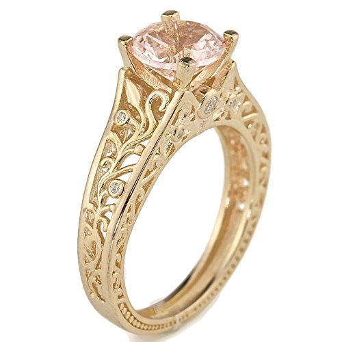 3 Stone Pave Antique Ring - 8