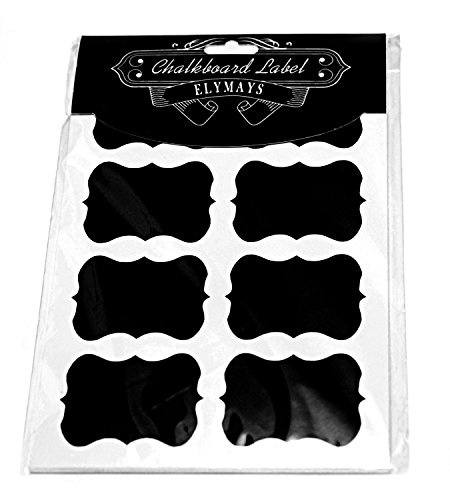 Chalkboard Labels Complete Bundle: 64 Premium Stickers for Jars by ELYMAYS The BEST Large and Reusable Waterproof Chalkboard Labels. Canning Labels for Food Storage, Pantry, Spice Jars & Freezer!