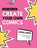 Blank Comic Book: Create Your Own Comics: Extra Large, 220 Pages, Action Templates (Blank Comic Book for Kids) (Volume 11)