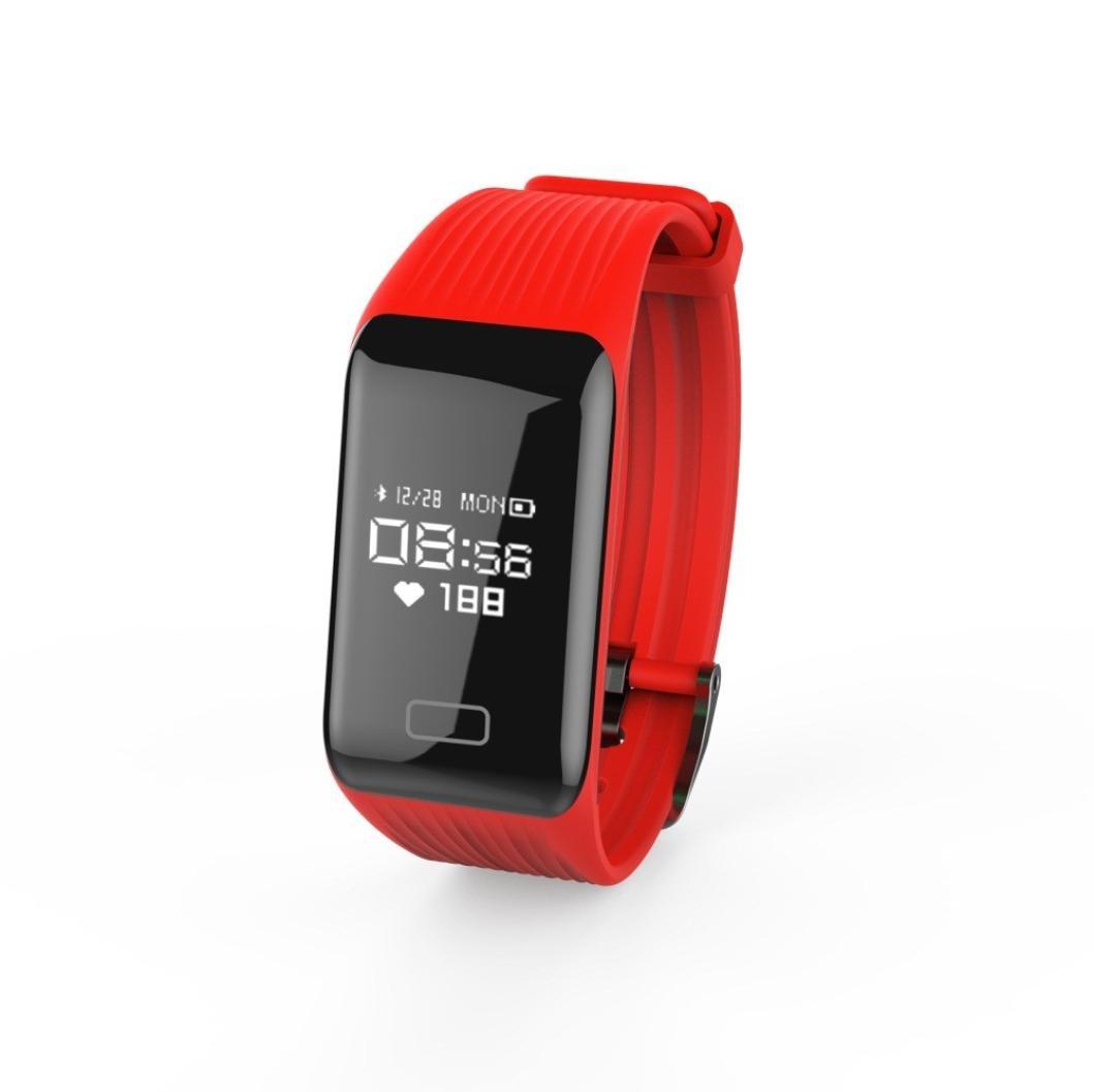 Fuibo Smart Watch, Y1 Fitness Tensiómetro de oxígeno Monitor de ...