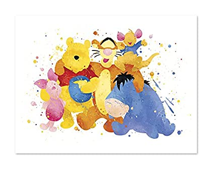 110d58be2 Amazon.com: 8x10 P46 Winnie the Pooh Watercolor Posters - Nursery ...