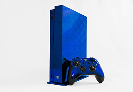 amazon com microsoft xbox one x skin xb1x new blue diamond