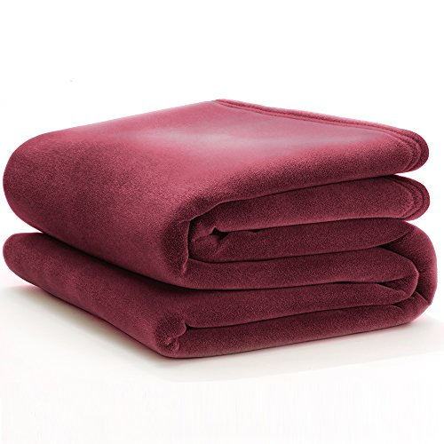Blanket Cranberry - Vellux Classic Blanket, King, Cranberry, 4-Pack