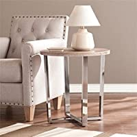 Pemberly Row Round End Table in Sunbleached Gray