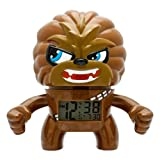 BulbBotz Star Wars Chewbacca Kids Light up Alarm Clock | Brown/Black | Plastic | 7.5 inches Tall | LCD Display | boy Girl | Official