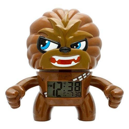 BulbBotz Star Wars Chewbacca Kids Light up Alarm Clock | Brown/Black | Plastic | 7.5 inches Tall | LCD Display | boy Girl | Official