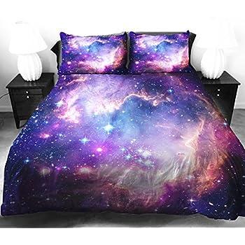 Amazon Com Anlye Galaxy Quilt Cover Galaxy Duvet Cover