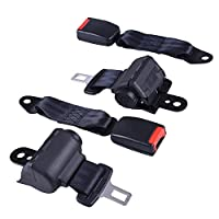 AW Universal Retractable Golf Cart Seat Belt Kit Compatible with EZGO Yamaha Club Car Front Rear Seat Passenger