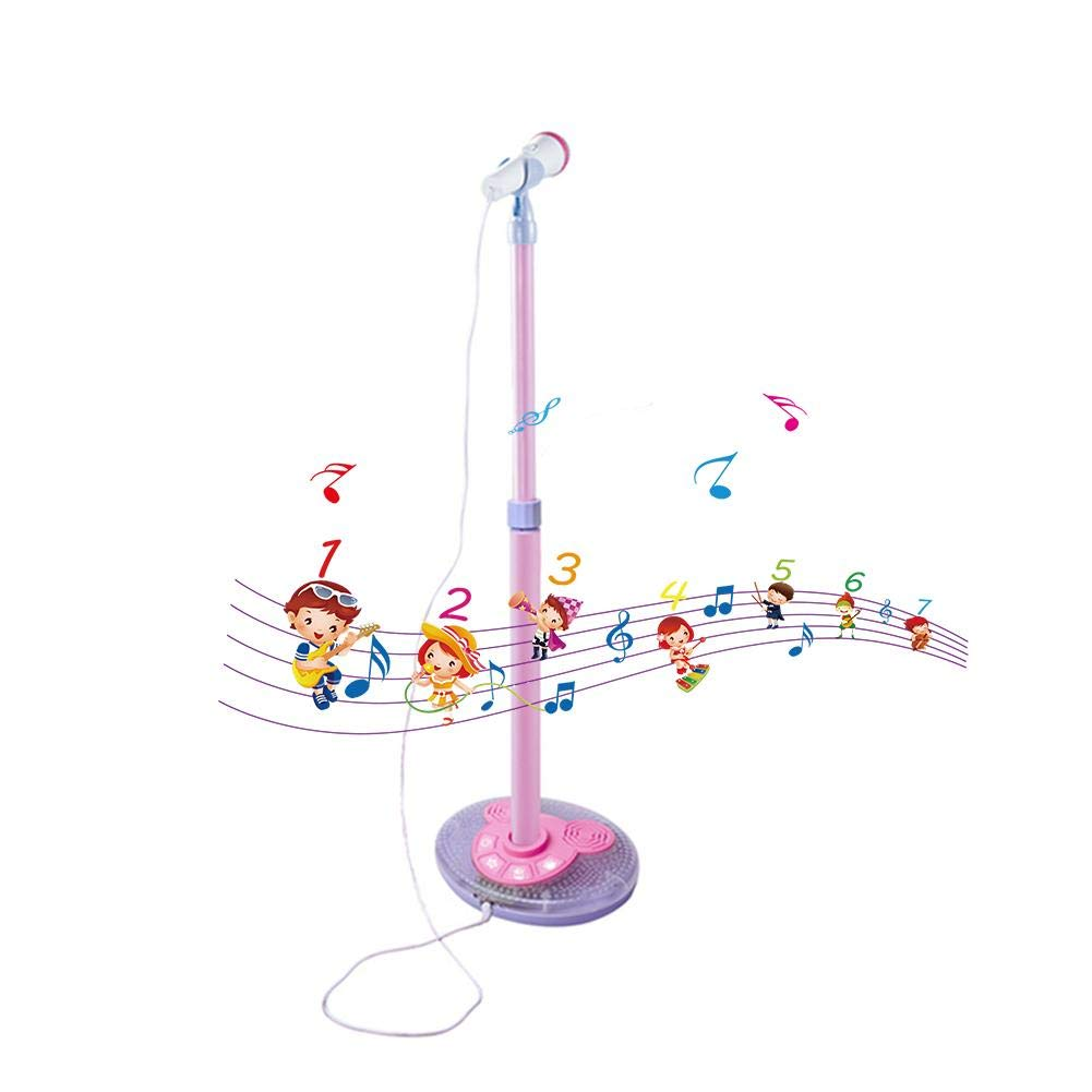 Riverry Simulation Microphone Kids Karaoke Machine, Microphones And Adjustable Stand