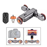 Andoer Track Dolly, Video Dolly Electric Track Slider with Wireless Remote Control 3 Speed Adjustable Chargable Mini Slider Skater for Canon Nikon Sony DSLR Camera iOS Android Smartphone