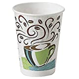 Dixie Perfectouch Disposable Hot Cups, 12 OZ Cups (125 Count)