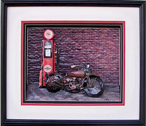 1926 Harley Racer Motorcycle Paper Tole 3D Decoupage Craft Kit 8x10 8-643 (the second picture shown is a example of what this Craft Kit will look like completed)