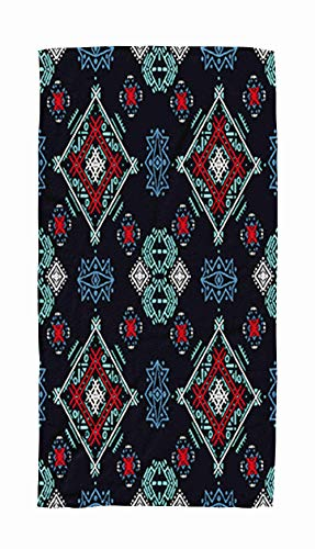 Towel Warmer Travel,Ethnic Pattern Tribal Art Print Boho Texture Cloth Design Wrapping Wallpaper 30x60 Inch Large Pool Towels for Body Bath,Swimming,Travel,Camping,Sport