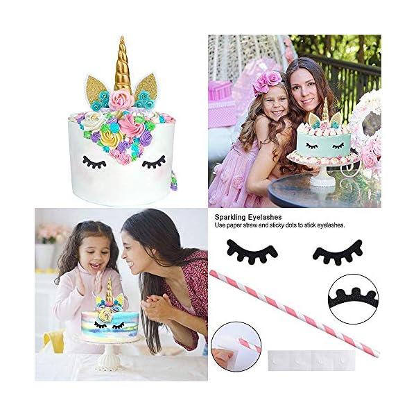 GONGYIHONG Unicorn Birthday Party Supplies Set, Serves 16, Colorful 5
