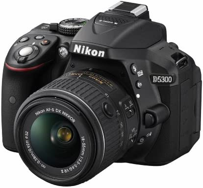 Nikon D5300-24 MP, SLR Camera, Black, 18-55mm VR Lens Kit