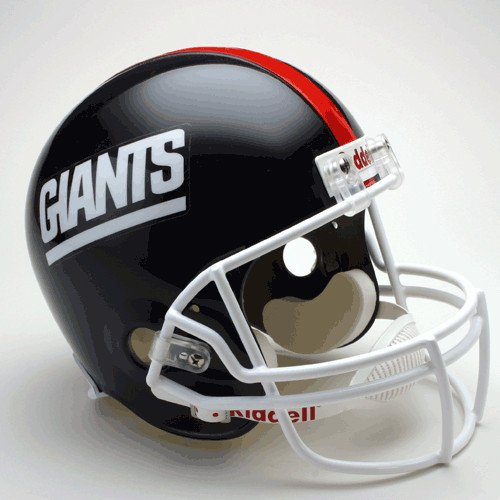1999 Helmet Football - New York Giants 1981-1999 Throwback Riddell Full Size Deluxe Replica Football Helmet