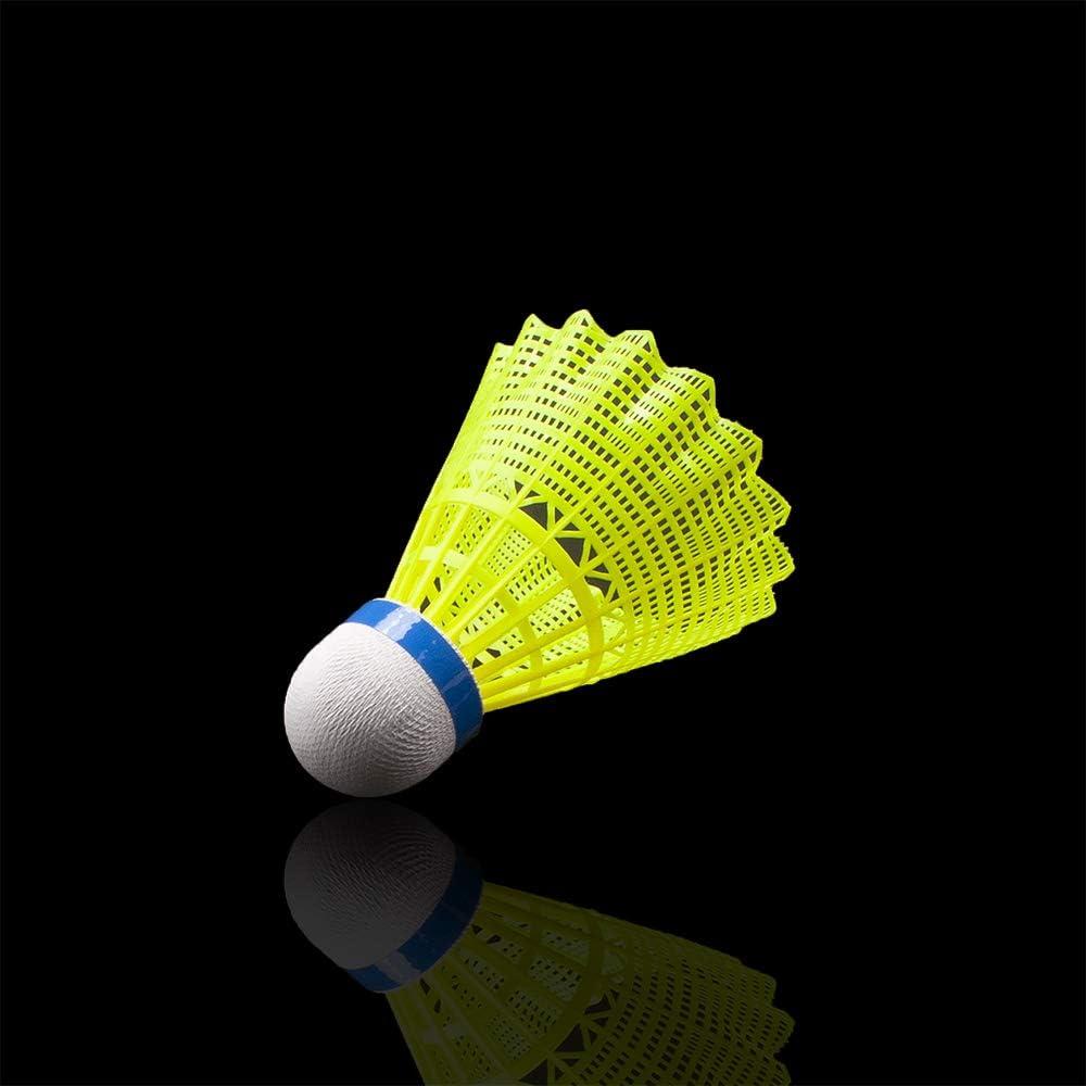 Senston Nylon Badminton Shuttlecocks Sports Birdies Shuttlecock 6PCS for Outdoor Indoor Sports Activities - Yellow : Sports & Outdoors