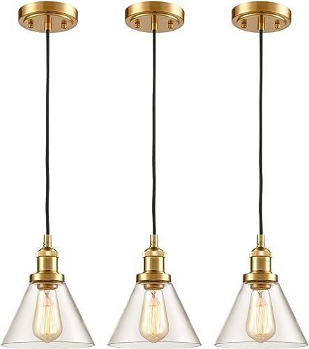 Brass Mini Industrial Pendant Light