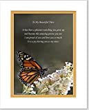 Niece Gift with Poem Watching You Grow Up and Become This Amazing Person You Are. Butterfly Photo, 8x10 Double Matted. Special Birthday, for Niece.