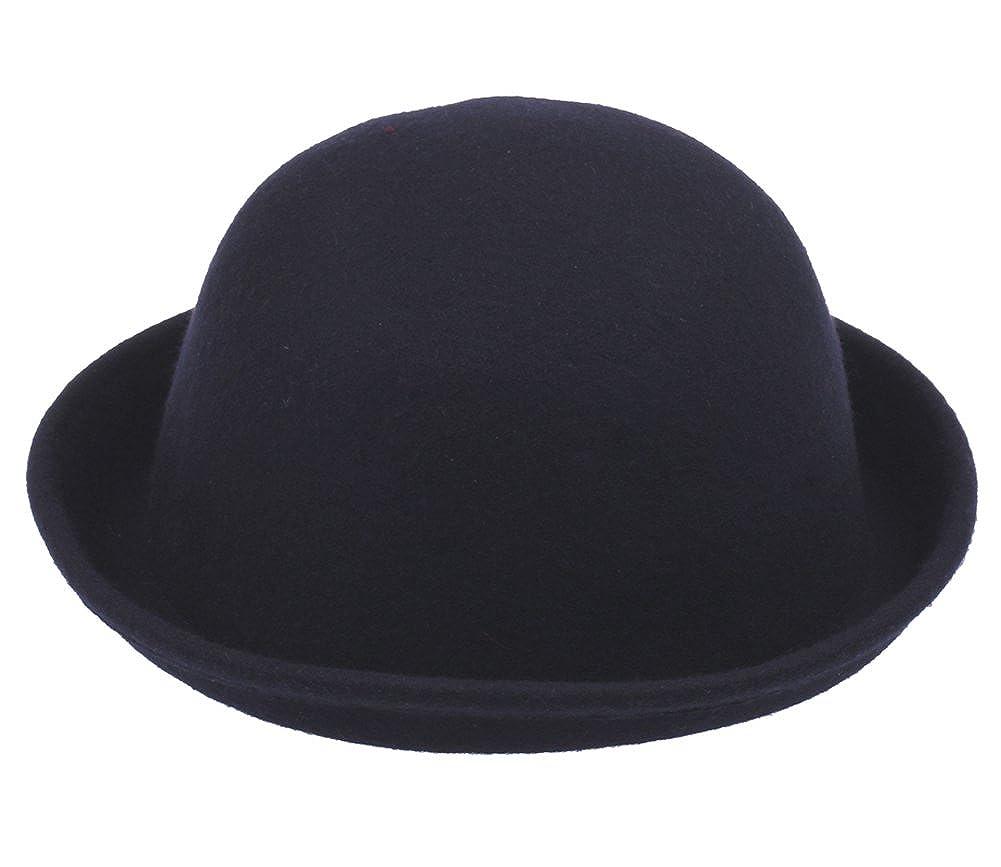 Jtc Womens Wool Cloche Caps Derby Party Hat Bowler Hat Billycock Dark Blue