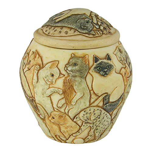 Harmony Ball Jardinia Cats Galore Cat Cachepot- A Beautiful Urn for Pet Ashes
