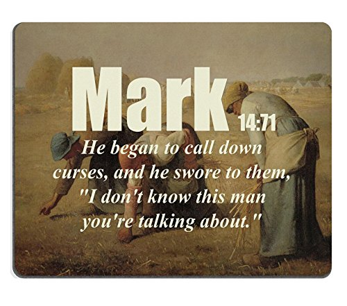 Bible Verses Quote Mark 14_71 He began to call down curses and he swore to them I dont know this man youre talking about MSD Customized Made to Order Cloth with Neoprene Rubber Mouse Pads