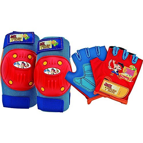 Bell Jake Protective Gear Pad Set, Blue/Red