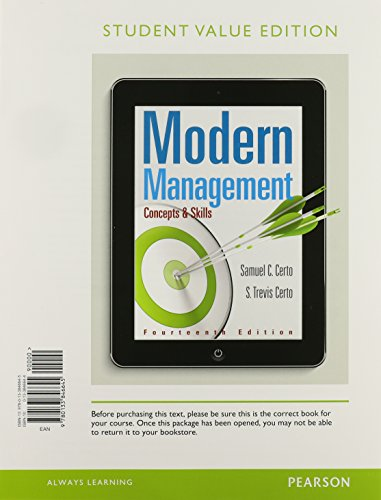 MyLab Management with Pearson eText -- Access Card -- for Modern Management