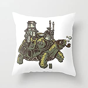 Pillow Set Steampunk Turtle Throw Pillow case With Soft Comfortable Feeling for Car And Chair