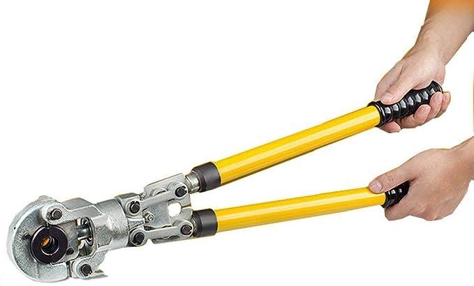 CGOLDENWALL Crimpadora Hidráulica Manual CW-1632 Alicate de Engarzado Hidraulico 6T φ16-32mm con Asa Extensible para Tubo de Cobre / Aluminio / ...