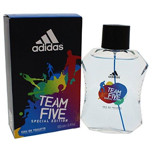 Adidas Team Five Special Edition Eau De Toilette Spray For Men, 3.4 Ounces