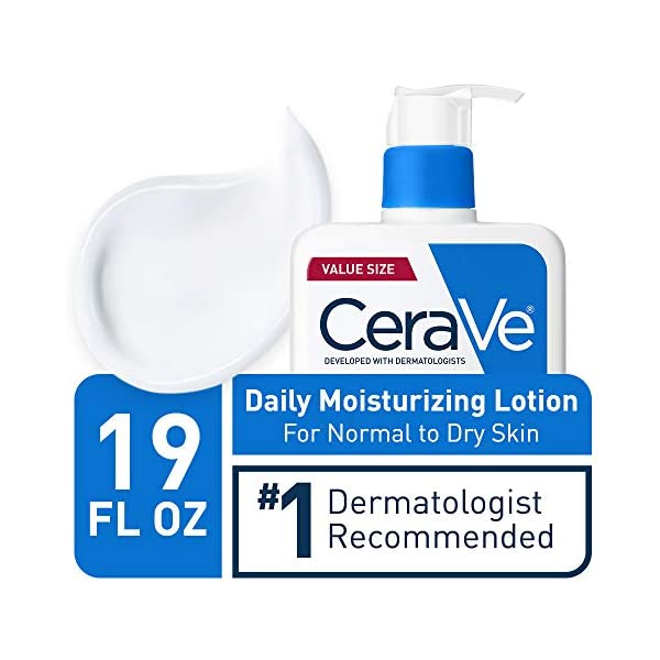 CeraVe Daily Moisturizing Lotion for Dry Skin | Body Lotion & Facial Moisturizer with Hyaluronic Acid and Ceramides…