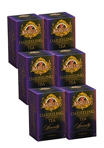 - Basilur | Ultra-Premium High Grown Darjeeling Black Tea | Single Origin | 20 Count Foil Enveloped | Pack of 6
