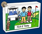 Best Personalized Gifts Buddies Frames - Personalized NTT Cartoon Side Slide Frame Gift: Golfing Review