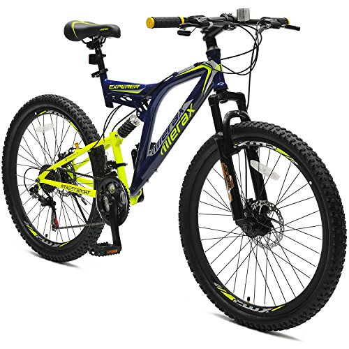 "Merax 26"" Full Suspension 21 Speed Mountain Bike with Disc Brake"
